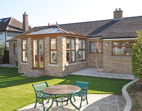 uPVC Brown Conservatory Stafffordshire and Stoke-on-Trent