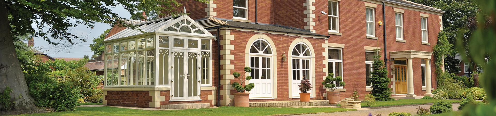 uPVC Cream Victorian Conservatory Staffordshire and Stoke-on-Trent