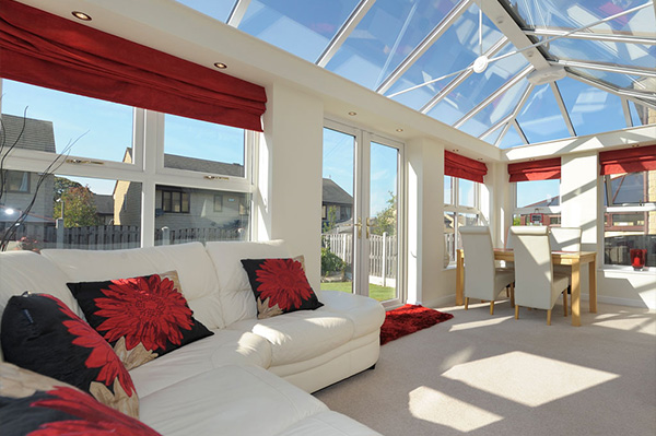 Modern Glass Extension Interior Staffordshire and Stoke on Trent